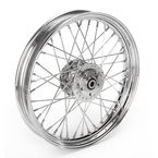 Chrome Front 19 x 2.5 40-Spoke Laced Wheel Assembly - 0203-0413