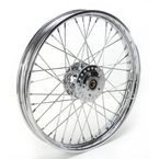 Chrome Front 21 x 2.15 40-Spoke Laced Wheel Assembly  - 0203-0415