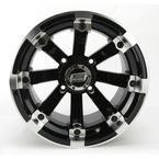 Black 393X Cast Aluminum ATV/UTV Wheel - 0230-0528