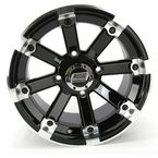 Black 393X Cast Aluminum ATV/UTV Wheel - 0230-0537