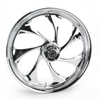 Front 21 in. x 3.5 in. Drifter One-Piece Forged Aluminum Chrome Wheel - 21350-9917-101C