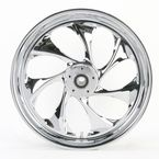 Front 18 in. x 3.5 in. Drifter One-Piece Forged Aluminum Chrome Wheel for Models w/ ABS - 18350-9031A-101