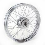 Front Chrome 19x2.5 40-Spoke Laced Wheel Assembly - 0203-0530