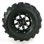Gloss Black 387X Tire/Wheel Kit - 0331-1169
