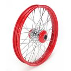 21 in. x 2.15 in. Front Lace Red Powder-Coated 40-Spoke Wheel Assembly - 231-S40FR