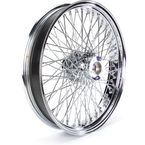 21 in. x 3.5 in. Chrome 80-Spoke Front Wheel Assembly w/Round Spokes - 06-107