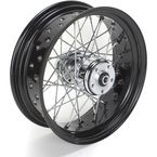 16 in. x 5.5 in. Rear Lace Black Powder-Coated 40-Spoke Wheel Assembly - 226-S40RB