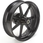 18 in. x 5.5 in. Morris One-Piece Black Ops Aluminum Wheel for Models w/ ABS - 12697814RMRSSMB