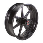 18 in. x 5.5 in. Morris One-Piece Black Ops Aluminum Wheel  - 12567814RMRSSMB