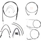 Black Pearl Designer Series Handlebar Installation Kit for Use w/18 in. - 20 in. Ape Hangers (Non-ABS) - 487173