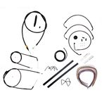 Midnight Stainless Handlebar Cable and Brake Line Kit for Use w/18 in. to 20 in. Ape Hangers - LA-8006KT2A-19M