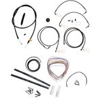 Midnight Stainless Handlebar Cable and Brake Line Kit for Use w/Beach Bars, Extra Wide or Extra Wide w/Pullback Handlebars - LA-8050KT2-04M