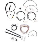 Midnight Stainless Handlebar Cable and Brake Line Kit for Use w/12 in. to 14 in. Ape Hangers w/ABS - LA-8050KT2-13M