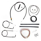 Midnight Stainless Handlebar Cable and Brake Line Kit for Use w/Mini Ape Hangers w/o ABS - LA-8110KT2A-08M