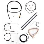 Midnight Stainless Handlebar Cable and Brake Line Kit for Use w/12 in. to 14 in. Ape Hangers (w/o ABS) - LA-8130KT2-13M