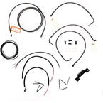 Midnight Stainless Handlebar Cable and Brake Line Kit for Use w/Mini Ape Hangers w/o ABS - LA-8012KT2-08M