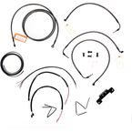 Midnight Stainless Handlebar Cable and Brake Line Kit for Use w/12 in. to 14 in. Ape Hangers w/o ABS - LA-8012KT2-13M