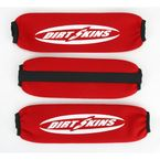 Red Front and Rear Shock Covers - DS01-3
