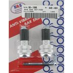 Silver Anti-Vibration Finish Bar Ends - 15-6002