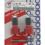 Red Anti-Vibration Finish Bar Ends - 15-6006