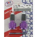 Purple Anti-Vibration Finish Bar Ends - 15-6007