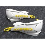 Yellow/White X-Factory Handguards - 2634661182