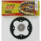 520 Quad Z-Ring Chain and Sprocket Kit - 5QUAD096KHO027
