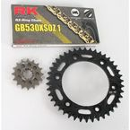GB530XSO-Z1 Chain and Black Sprocket Kit - 1102-064AK