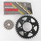 GB525GXW Chain and Black Sprocket Kit - 2108-064AK