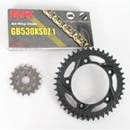 GB530XSO-Z1 Chain and Black Sprocket Kit - 3106-014AK