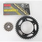 GB530XSO-Z1 Chain and Black Sprocket Kit - 3106-074AK