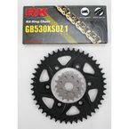530XSO-Z1 Chain and Black Sprocket Kit - 4107-046AK