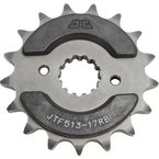 Front Rubber 17 Tooth Cushioned Sprocket - JTF513.17RB