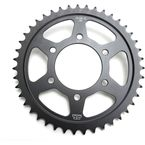 Induction Hardened Black Zinc Finished 43 Tooth Rear Sprocket - JTR1489.43ZB