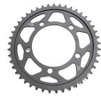 Induction Hardened Black Zinc Finished 45 Tooth Rear Sprocket - JTR7.45ZBK
