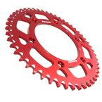 Red Aluminum Rear Sprocket - RAL-210-49-RD