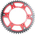Red Stealth Rear Sprocket - RST-1512-52-RED