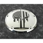 Chrome Black Stars and Stripes Punisher Low Profile Derby Cover - PATR22-67