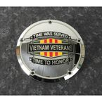 Chrome Vietnam Veterans Badge Derby Cover - VIET01-12