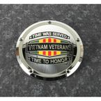 Chrome Vietnam Veterans Badge Low Profile Derby Cover - VIET01-46