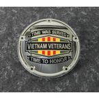 Chrome Vietnam Veterans Badge Low Profile Derby Cover - VIET01-67