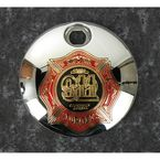 Chrome 911 Never Forget Fuel Door Cover - 911-13-13