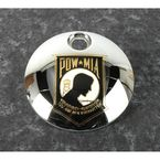 Chrome POW-MIA Fuel Door Cover w/Gold Accent - POW05-13