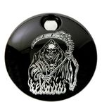 Black Grim Reaper Fuel Door Cover - SKUL18-13BG