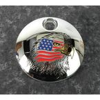 Chrome Stars and Stripes Eagle Fuel Door Cover - PATR04-13
