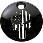 Black Stars and Stripes Punisher Fuel Door Cover - PATR22-13BG
