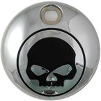 Chrome/Black Skull Fuel Tank Console Door - 38-0601