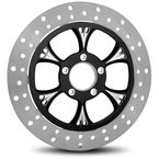 Black 11.5 in. Front Left Majestic Eclipse Two-Piece Brake Rotor - ZSSFLT115102CL