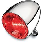 Chrome Rear Run/Brake Bullet 100 RB Taillight w/Red Lens - 2860