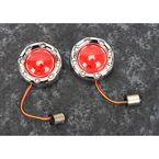 Chrome ProBEAM Bullet Ringz Turn Signals w/Red Lens - PB-BR-RR-57-CR
